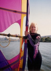 Me at windsurfing Morro Bay, California.